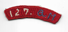 Occupation - Late 40's 127th Quartermaster Raw Silk Tab / Patch