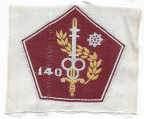 ARVN / South Vietnamese Army 140th Quartermaster Directorate Patch