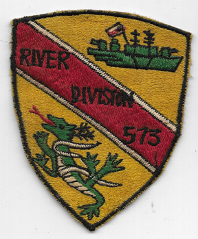 Vietnam US Navy River Division 573 Japanese Made Patch