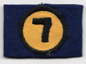 ARVN / South Vietnamese Ranger 7th Brigade Group Headquarters Shoulder Loop