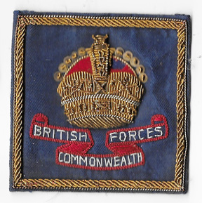 1950's British Forces Commonwealth Bullion Japanese Made Patch