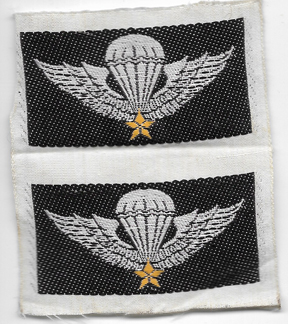 ARVN / South Vietnamese Army Uncut Strip Of Two  Basic Airborne Wing