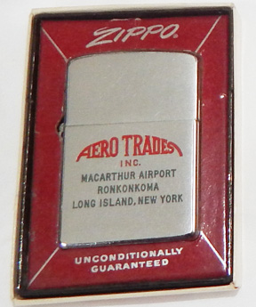 Aero Trades Inc New York 1962 Boxed Zippo