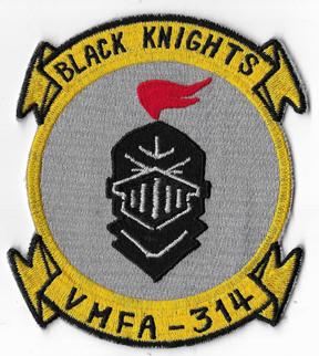 Vietnam Era US Marine Corps VMFA-314 BLACK KNIGHTS Okinawa Made Squadron Patch