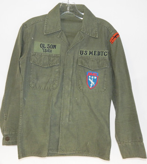 Vietnam Military Equipment Delivery Team Khmere Repbulic / MEDTC OD Shirt