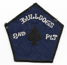 Vietnam 2nd Platoon 129th Aviation Company BULLDOGS Pocket Patch