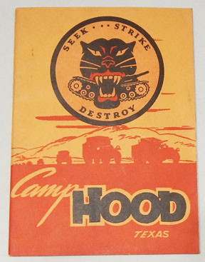 WWII Tank Destroyer Camp Hood Welcome Booklet