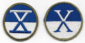 WWII X / 10th Corps Patch Set