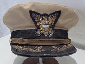 WWII US Coast Guard Officers Visor Cap