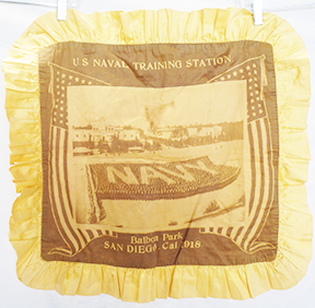 US Navy 1918 Naval Training Station San Diego Pillow Case
