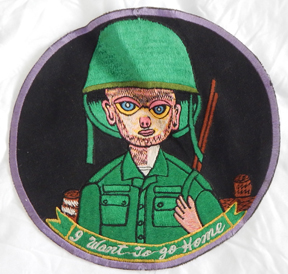 Vietnam Era Keane Style Big Eye Soldier I WANT TO GO HOME Back Patch