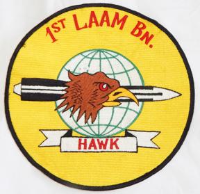 Vietnam Era US Marine Corps 1st LAAM / Light Antiaircraft Missile Battalion Back Patch