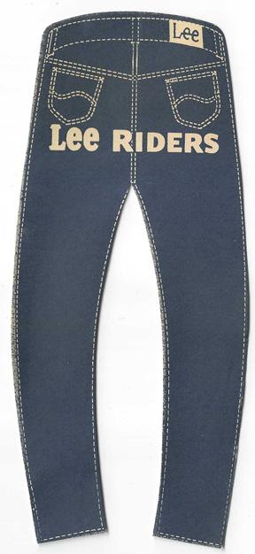 1960's Lee Riders Jeans Die Cut Advertisement