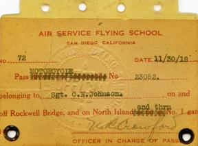 WWI Air Service Flying School San Diego Motorcycle License