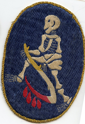Korean War 13th Bomb Squadron Japanese Raw Silk Squadron Patch