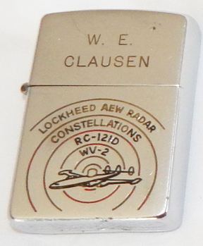 50's Lockheed ASW Radar Constellations RC-121D Presentation Boxed Zippo Lighter