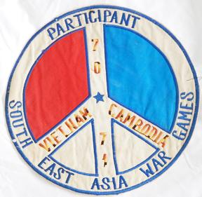 Vietnam Participant South East Asia War Games Vietnam / Cambodia 1970's-71 Back Patch