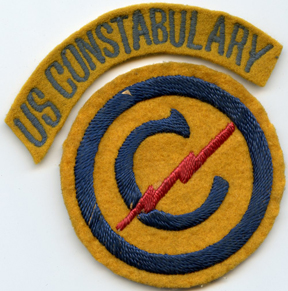 WWII - Occupation Period Constabulary Forces & Tab Patch Set