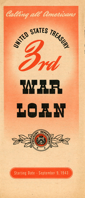 WWII 3rd War Loan Treasury Department Pamphlet