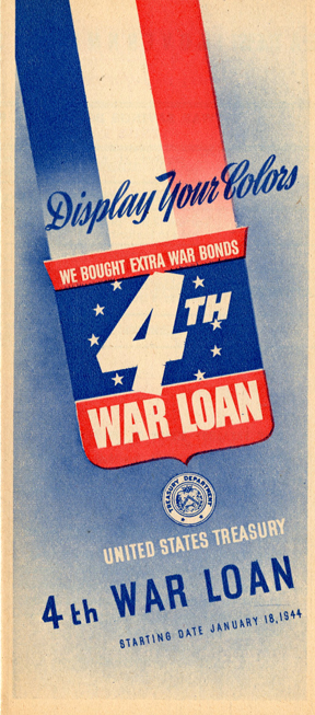 WWII 4th War Loan Treasury Department Pamphlet