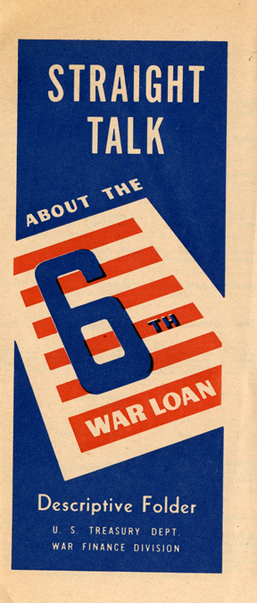 WWII 6th War Loan Treasury Department Pamphlet