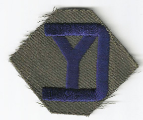 WWII 26th Division Patch On Gaberdine