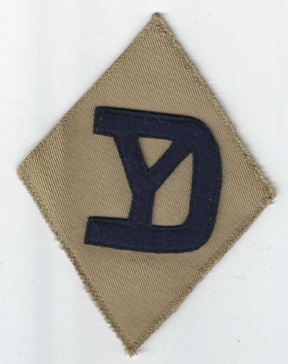 1930's 26th Division Patch On Khaki Twill