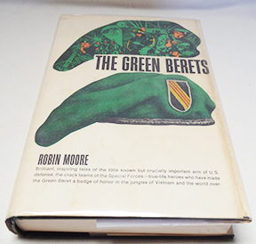 Autographed Copy of The Green Berets by Robin Moore Signed by Moore