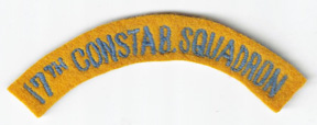 WWII - Occupation Period 17th Constabulary Squadron Scroll / Tab Patch