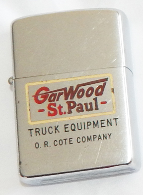 Garwood St Paul Truck Equipment OR Cote Company Advertising Zippo Lighter