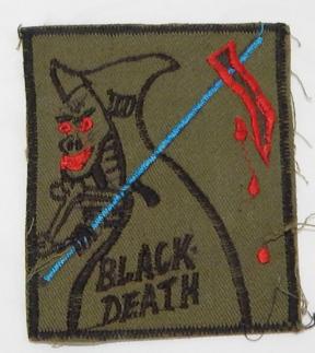 Vietnam 198th Infantry Brigade BLACK DEATH Pocket Patch