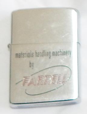 1964 Farrell Machinery Advertising Zippo Lighter