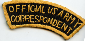 WWII - Occupation Official US Army Correspondent Japanese Made Raw Silk Tab / Patch