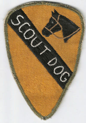 WWII - Occupation 1st Cavalry Division SCOUT DOGS Theatre Enhanced Patch