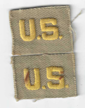 WWII CBI Made US Officers Collar Insignia Patches