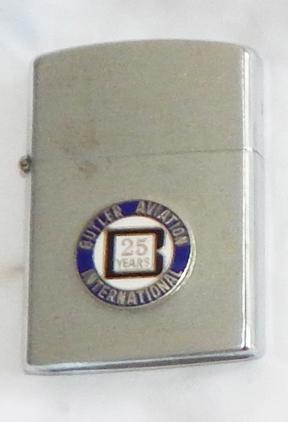 1960's Butler Aviation International 25 Years Barlow Slim Dandy Advertising Lighter