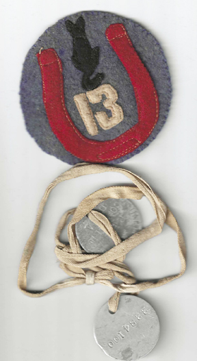 WWI M Company 44th Infantry 13th Division Insignia Set