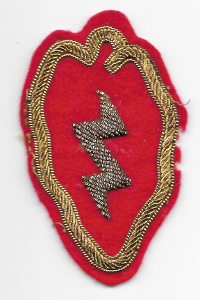 WWII - Korea 25th Division Japanese Made Bullion Patch