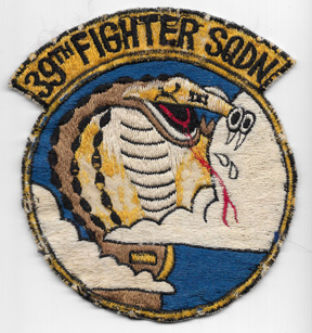 Korean War US Air Force 39th Fighter Squadron Japanese Made Patch