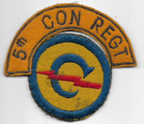 WWII - Occupation Period 5th Constabulary Regiment German Made Patch Set