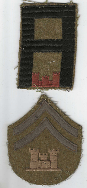 WWI 1st Army Engineers NCo Patch Set