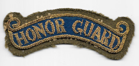 40's-50's Honor Guard Japanese Made Bullion Scroll / Patch