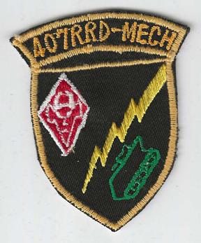 Vietnam 407th Radio Research Detachment Mechanized Pocket Patch