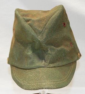 WWII Japanese Home Front Green Field Cap