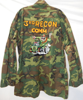 "Vietnam Era Ed "" Big Daddy"" Roth Style USMC ERDL Camo Party Shirt"