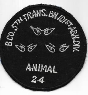 Vietnam B Company 5th Transportation 101st Airborne Division Pocket Patch