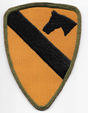 WWII 1st Cavalry Division On Twill Patch
