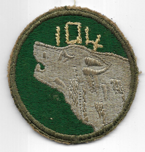 WWII 104th Division GI Customized Shoulder Patch