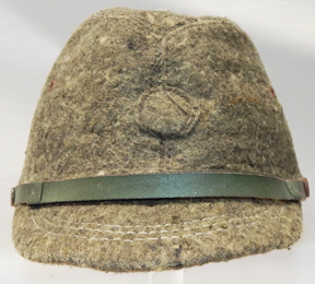 WWII Japanese Home Front Fuzzy Wool Green Field Cap