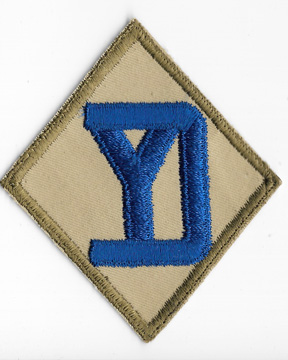 WWII 26th Division On Khaki Twill Patch